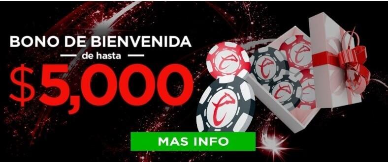 caliente casino promociones - bono de bienvenida de hasta 5000$