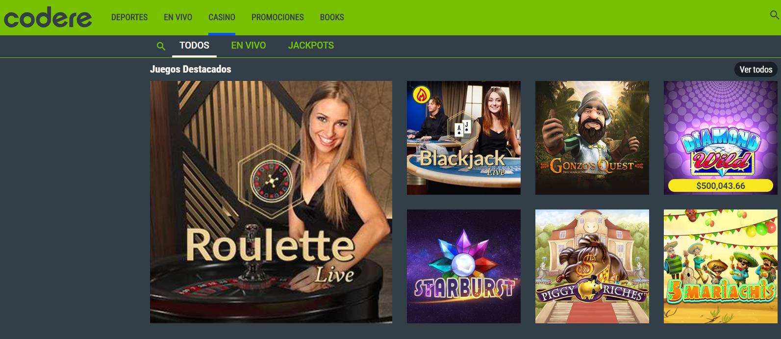 Codere Mx Casino - Reseña 2