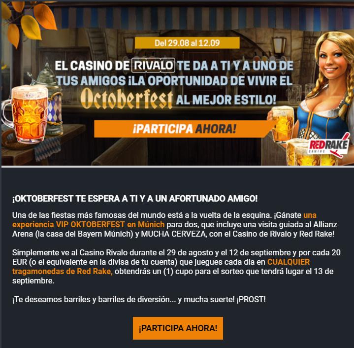 Apasionante Bono de Recarga en Casino Rivalo 1