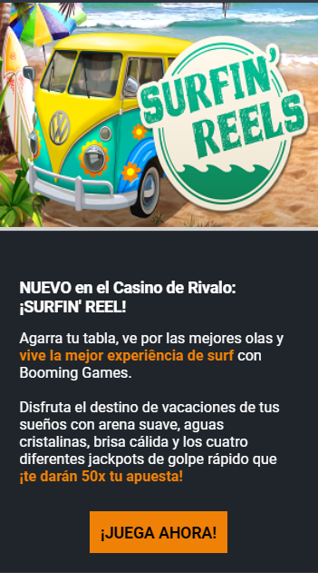 Apasionante Bono de Recarga en Casino Rivalo 2