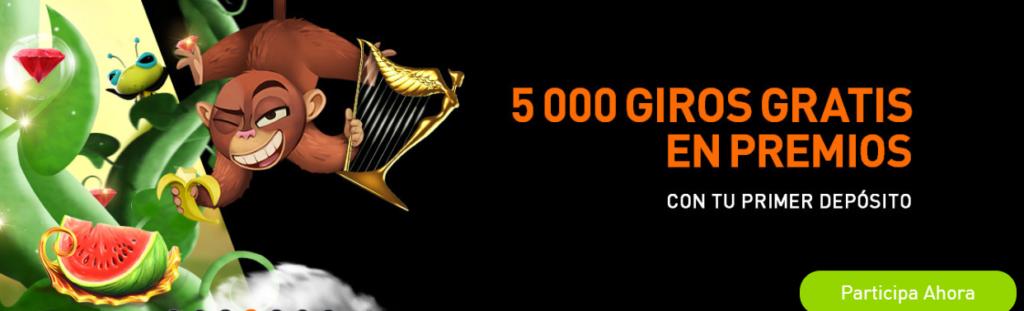 casino777 - 5000 giros gratis en premios