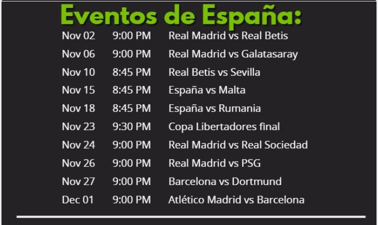 eventos de futbol en españa
