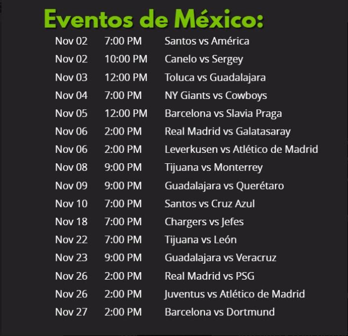eventos de futbol en mexico