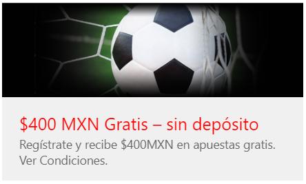 caliente - 400$mxn sin deposito en apuestas gratis