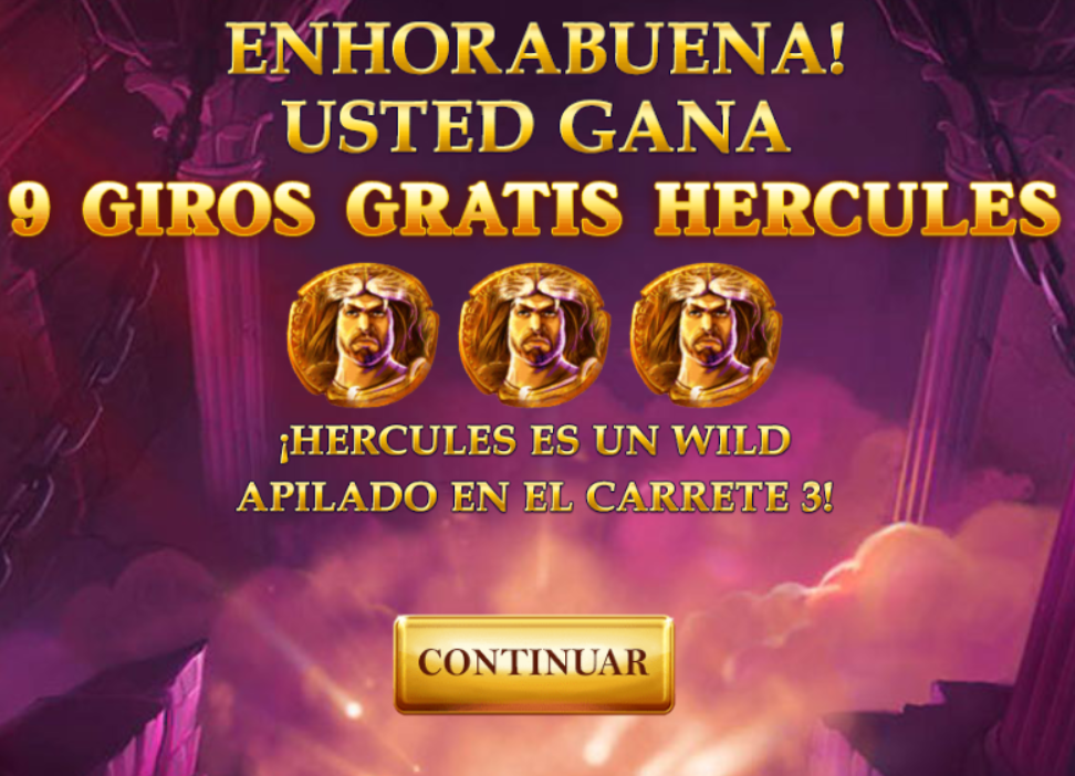 age of the gods - 9 giros gratis hercules